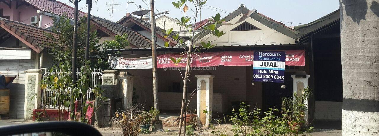 Rumah tua hit tanah Jalan Raya Gading Lestari