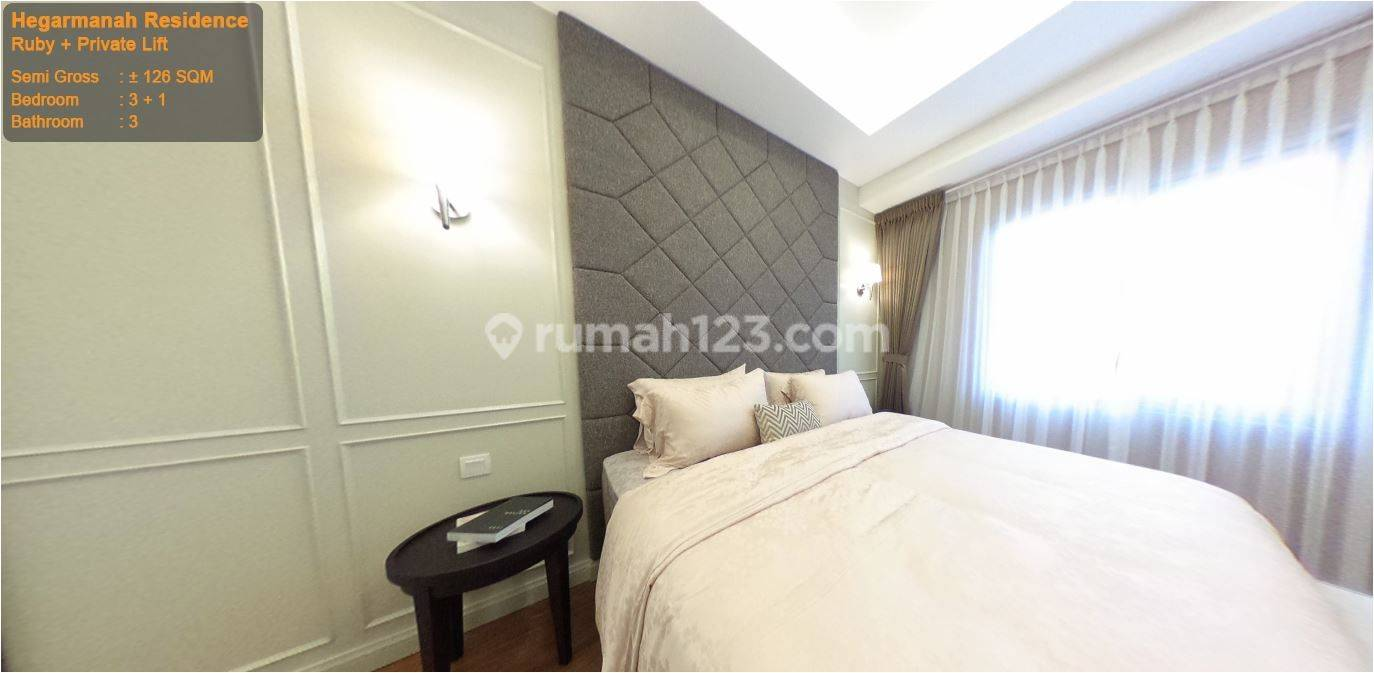 Apartemen termewah Hegarmanah Residence Bandung. Type Ruby