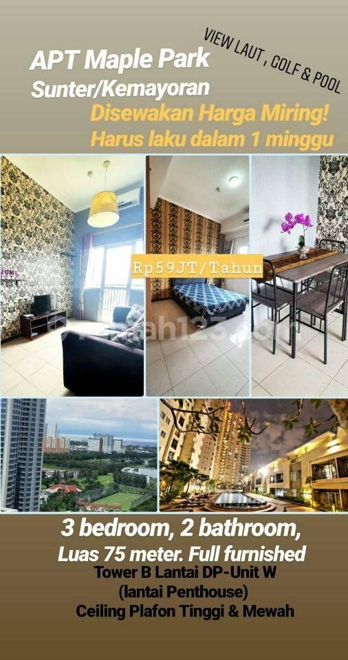 Apartemen Minimalis Siap Huni Maple Park Sunter