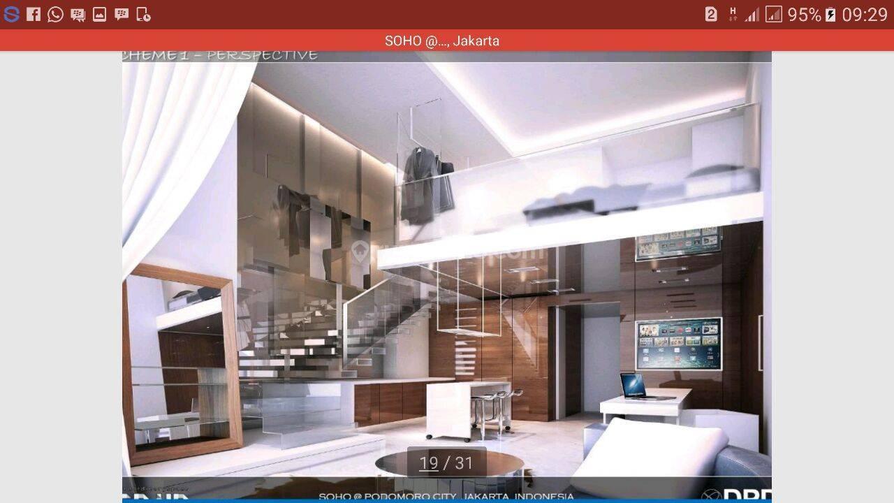 SOHO ( Small office home office ) at central park, view bagus dan harga Murah