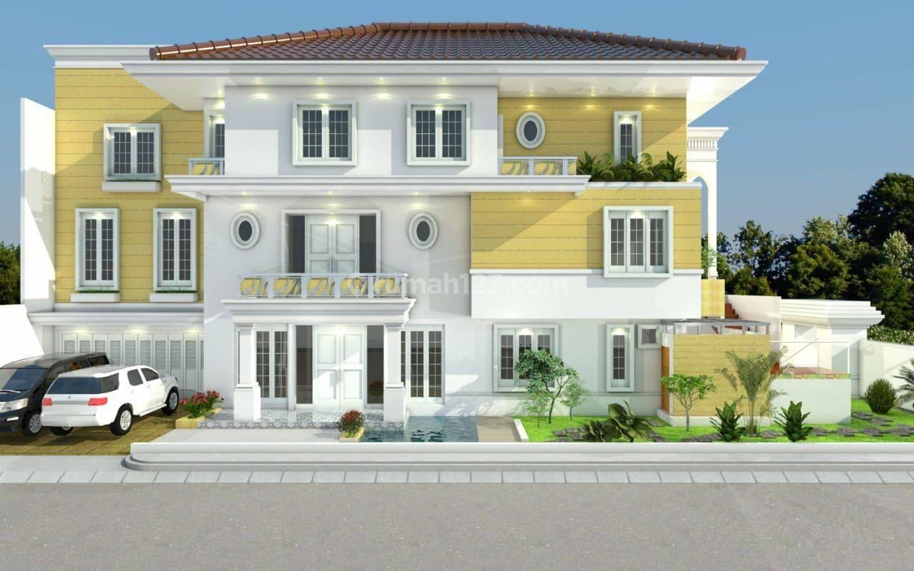 rumah brand new PIK posisi hook , big size ,design terima beres
