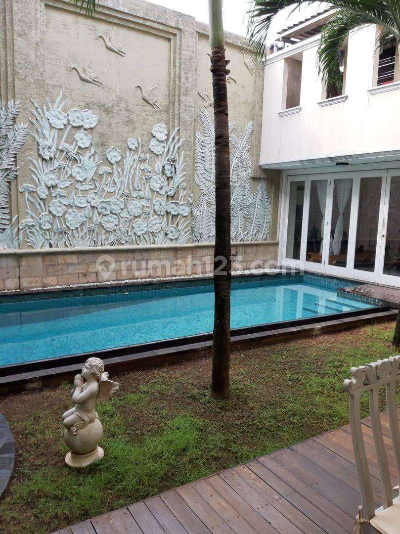 Rumah Mewah Harga Covid Ada Pool Siap Huni 2 Lantai Jalan Praja, Pondok Indah Keb. Lama Jakarta Selatan