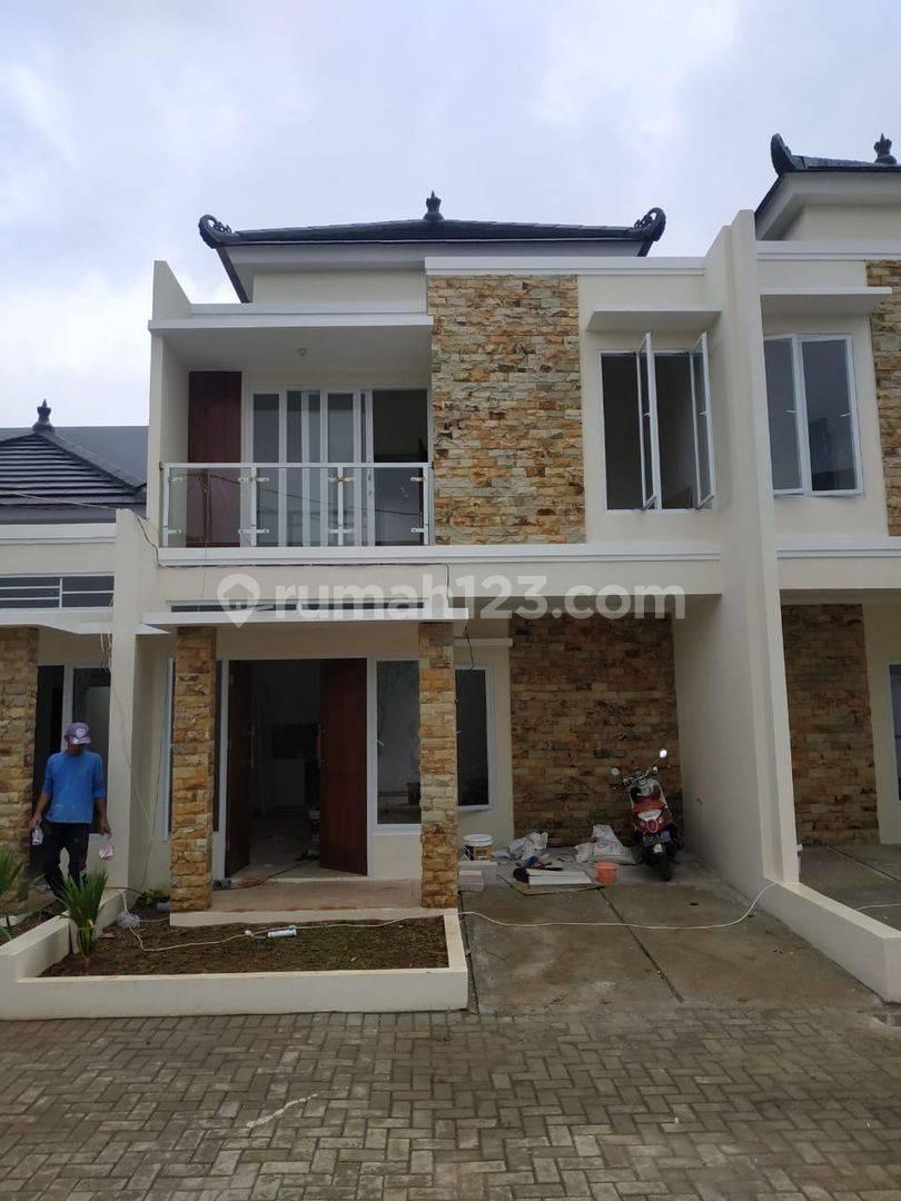 Rumah 2 Lantai Gaya Bali Gas Alam Eksklusif Dekat Tol Cimanggis