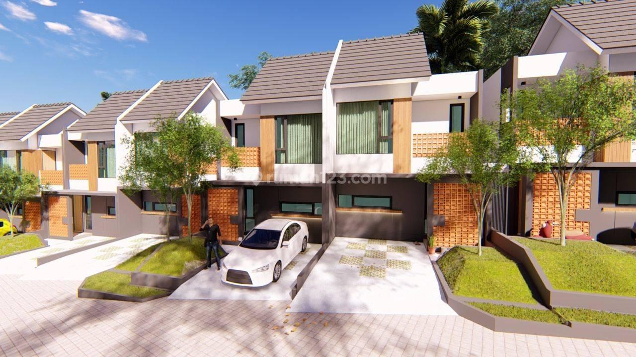 Rumah minimalis 2 lantai harga terjangkau lokasi strategis dekat gerbang tol cibubur