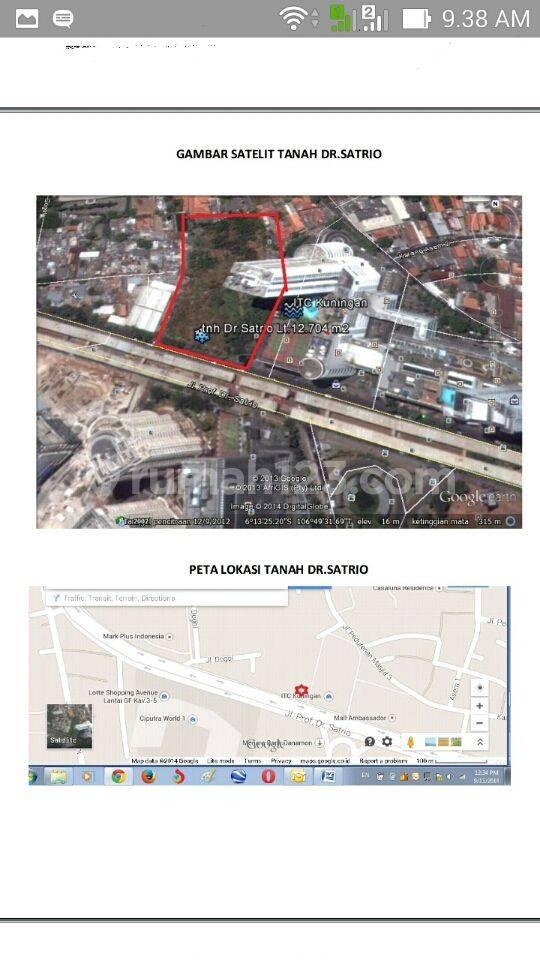 Lokasi Tanah yg Sangat Strategis Pusat Bisnis utk Perkantoran, Apartemen atau Hotel