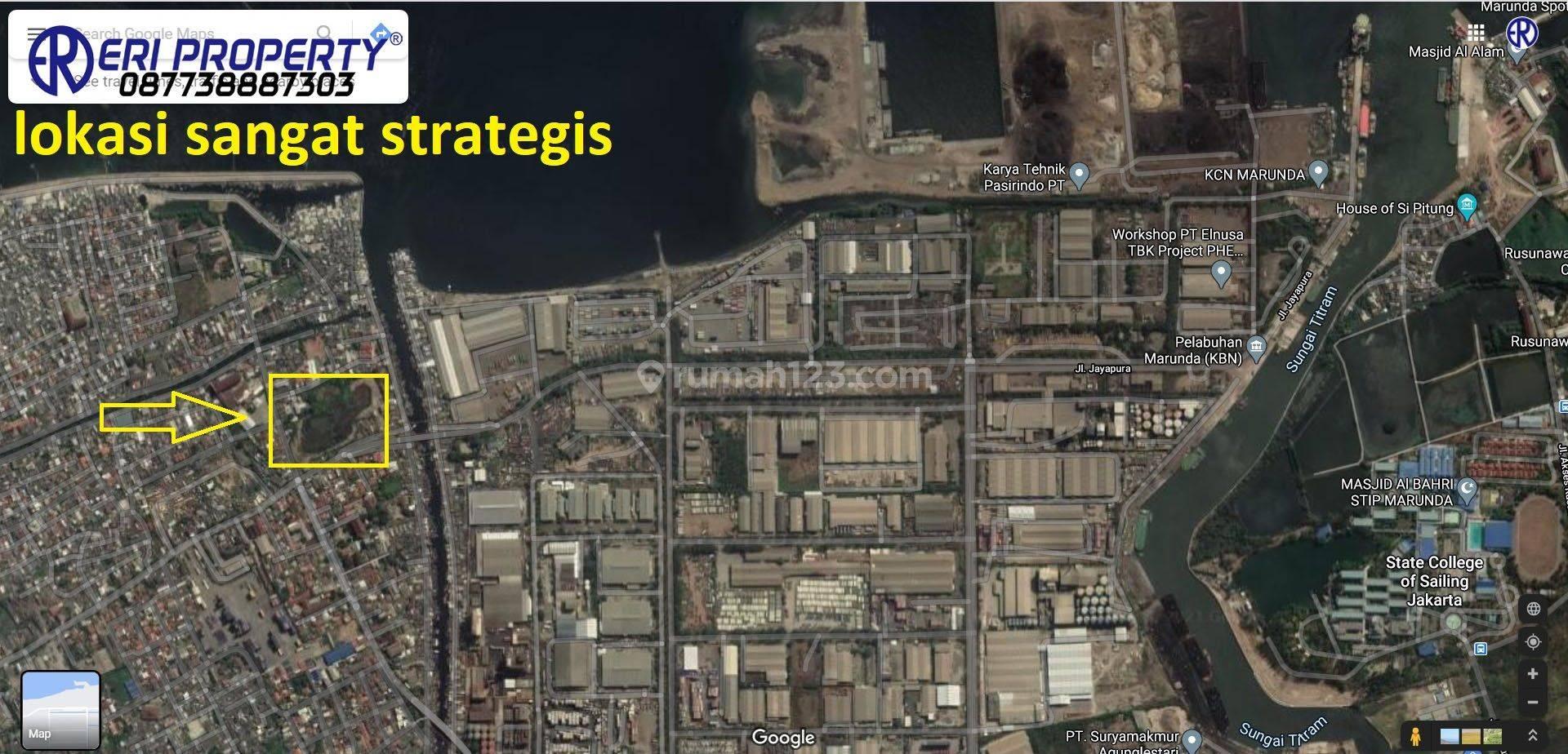 Tanah Industri 1,9 Ha (5,5 Juta/m2) Cilincing Raya Dekat Pelabuhan Marunda Eri Property Jakarta Utara