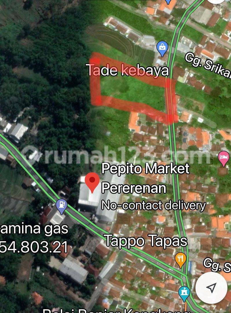 FREEHOLD LAND ONLY 200 METER FROM JUNCTION PERERENAN 44,9 ARE