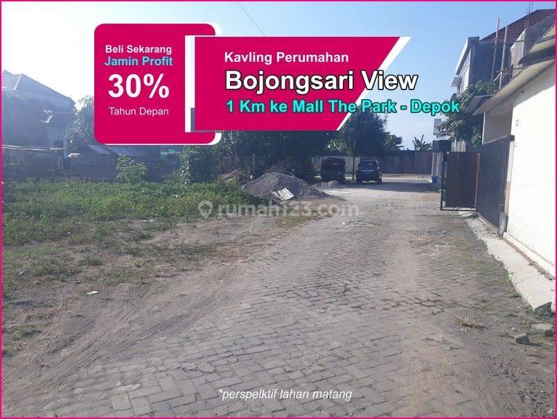 Dekat The Park Mall Sawangan: Kavling Tanah Depok Luas 88M2, Margin 30%
