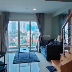 Maqna Residence Jakarta Barat, 2BR Loft , Fullfurnished - Brand New.