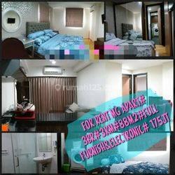 Mg suite apartemen tengah kota 3 bed room, luas dan siap pakai ..balkon luas