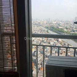 apartemen season city, 2 bedroom furnished lantai rendah luas 45m2 view city harga 630juta