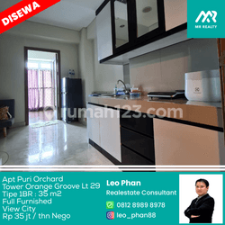 Apartement Puri Orchard Tower Orange Groove Wing A Lt 29, 1BR, Full Furnished