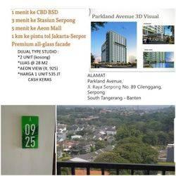Studio Apartemen Lt 9 Parkland Avenue BSD