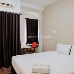 Studio Fully Furnished at Tamansari Skylounge Apartment By Travelio