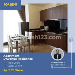 Apartment L'Avenue, Pancoran - Tipe 2 BR - Fully Furnished