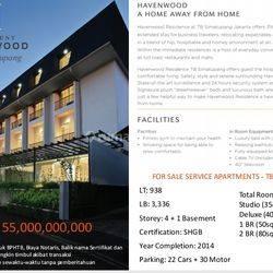 Dijual Apartment Havenwood Baru, Tb. Simatupang, Pasar Minggu, JakSel