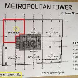 Ruang Kantor Metropolitan Tower TB Simatupang Jakarta Selatan
