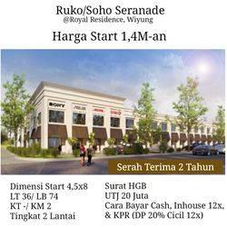 Ruko Soho Baru Minimalis Serande Royal Residence Wiyung dkt Citraland