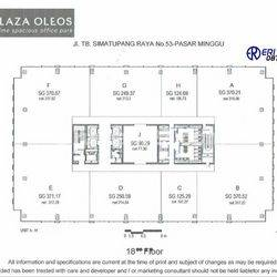 Ruang Kantor Luas 2323 m2 TB Simatupang Jakarta Selatan 28 Juta / m2