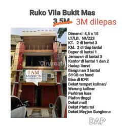 Ruko 3lt Murah Strategis Vila Bukit Mas Wiyung dkt Gunungsari Surabaya Bebas Banjir KPR