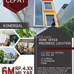 Gedung Kantor @ Ganggeng Raya* Tanjung Priuk Lb 250m2