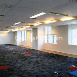 Ruang kantor di MNC Tower Jakarta Pusat, luas mulai 168m2, bare/fitted condition.