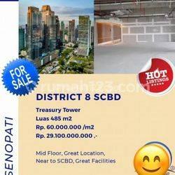 District 8 SCBD, Treasury Tower, Luas : 485m2, Harga : 60 Juta/m2 Nego, Senopati, Jakarta Selatan