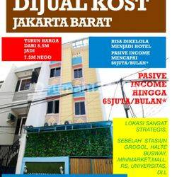 Rumah kos 4,5 lantai , Bonus kos SHM , IMB , Latumenten , Jelambar , Jakarta barat