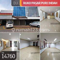 Ruko Pasar Puri Indah, Jakarta Barat, 6x15m, 2 Lt, HGB