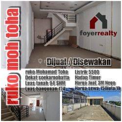 Ruko 3 Lantai Daerah Mohammad Toha Bandung