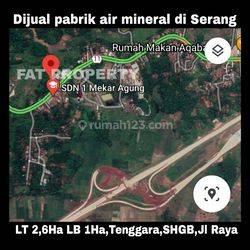 PABRIK AIR MINUM di Pandeglang,Serang. Pabrik masih beroperasi memproduksi air mineral kemasan dan air soda.