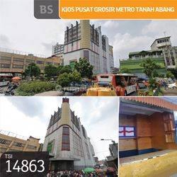 Kios Pusat Grosir Metro Tanah Abang, Jakarta Pusat, Blok B, 2x2m, HGB