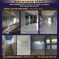 Ruko Jalan Panjang Kelapa dua, Jakarta Barat
