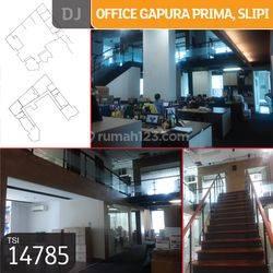 Office Gapura Prima, Slipi, Jakarta Barat, 430,4 m², Lt 5, HGB