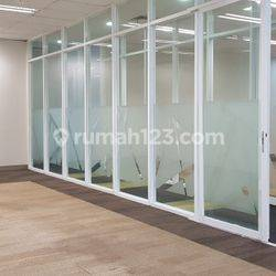 MURAHHH OFFICE SPACE 278 SQM SEMI FURNISHED SAHID SUDIRMAN CENTRE