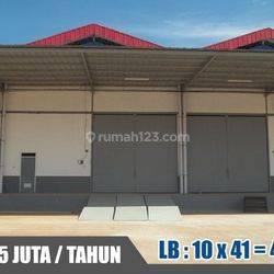 GUDANG LUAS 10x41 DI ANGKE INDAH JAKARTA BARAT (KODE: THY-040) HUB: THANTY 08111089928
