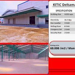 60rb/m2 perbulan  Gudang Pabrik Cikarang