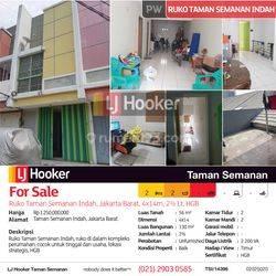 Jual Cepat, Harga Murah, Cocok untuk kantor/gudang/workshop, Ruko @ Taman Semanan Indah, Cengkareng, Jakarta Barat