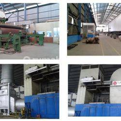 Pabrik Kertas, Karawaci, Tangerang, tanah 9 hektar, bangunan 4.6 hektar, Harga 2.7 jt/m2