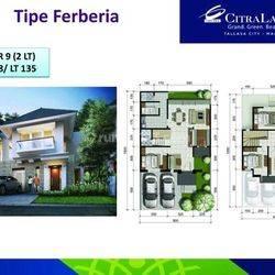 Rumah cantik dan minimalis citraland tallasa city dekat rumah sakit Unhas