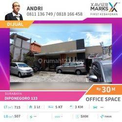 Rumah untuk Kantor atau Bank di tengah kota Surabaya - TURUN HARGA