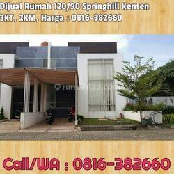 Rumah120/90, 2 Lantai Elegant di komplek The Spring, Jln Kenten City Dekat Indogrosir