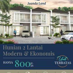 A.54A.Rumah JUANDA LAND REGENCY - HAMPIR HABIS (TOP SELLER) - Hunian 2 Lantai, Modern dan Ekonomis (GRADE A+)