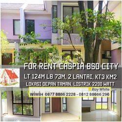 Rumah Cantiq Minimalis Luas 124m Harga 40Jt/Thn di Cluster Caspia, BSD CITY