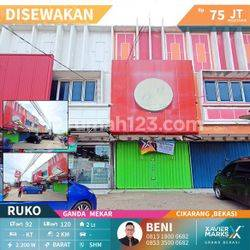 Ruko keren di dekat kawasan industri MM2100 cikarang barat Bekasi