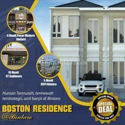 Boston residence bintaro hunian 2lt 3kamar SHM ! 600jutan nego keras sisa 3unit !!