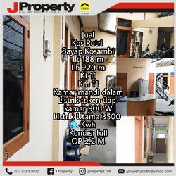 Rumah kos aktif lokasi strategis tengah kota Bandung