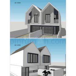 BRAND NEW HOUSE 75m KAV DKI MERUYA JAKARTA BARAT 1.65M KODE1111