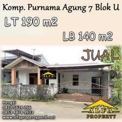 Rumah Purnama Agung 7 Blok U, Pontianak, Kalimantan Barat