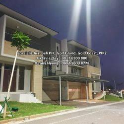 Rumah Golf Island PIK 12x25, Brand New, Siap Huni